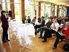 Rund 50 Interessierte, darunter einige Bürgermeister, Gemeindemandatare und Fachleute, sind der Einladung von Vision Rheintal und dem Betreuungs- und Pflegenetz Vorarlberg gefolgt.