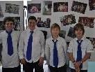 (v.l.) Moritz, Dominik, Dean und Lukas sind begeisterte Musiker.