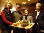 Am Sunnahof mit dabei: Nives Pavkovic, Eric Schmid, Ulrike Nuck und Julius Tomio