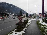 Ansicht des Kreisverkehrs von Richtung Sonderberg her