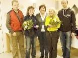Anton Pfanner, Christine Müller, Brigitte Pfanner, Veronika Karner und  Bernd Pfanner (v.l.)
