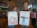 Die kleinen Künstler trafen die Vorlage recht gut... ;-)