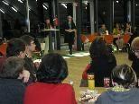 """Elisabeth Allgäuer-Hackl begrüßte die Teilnehmer und stellte das Projekt """"Crossing Books"""" vor"""