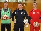 Oliver Mattle (l.) und Goalie Andreas Morscher haben den Kinderfußballkurs besucht.