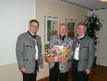 Chorleiter Gilbert Hämmerle wurde für 50-jährige Mitgliedschaft geehrt.