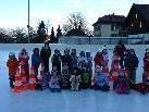 Die Kindergärtler genossen den Eislauf-Vormittag.