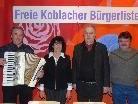 """Eduard und Margot Klammer, Hans Knünz und Elmar Meusburger machten sich für eine """"Freie Koblacher Bürgerliste"""" stark."""