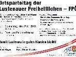 Ernst Hagen lädt alle interessierten MitbürgerInnen zum Ortsparteitag der Lustenauer Freiheitlichen ein
