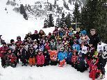 Fast 50 Kids nahmen am Kinderschikurs des SK Rankweil teil.