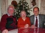 Guido und Paula Boschi mit Bgm. Xaver Sinz.