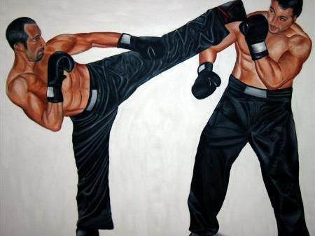 In Gantschier können sich Kickboxinteressierte zum Training anmelden.