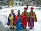 In vielen Häusern von Tschagguns waren die Sternsinger willkommene Gäste. Sie verkündeten die frohe Botschaft des Evangeliums.