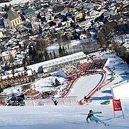 Kitzbühel verwandelt sich vom alpinen Dorf zur Weltcup-Mekka