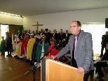Neujahrsempfang mit Bürgermeister Xaver Sinz im Pfarrsaal.