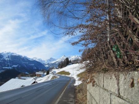 Panoramaweg Bartholomäberg- Silbertal im Winter immer gut geräumt.