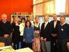 Axel Jablonski, Bgm. Brändle, Konsul Nuray Inöntepe, Dir. Dorner und Krämer-Alge mit den Lehrern aus Europa.