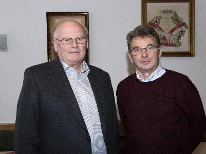 Bezirksobmann Konrad Blank mit Obmann Ewald Hopfner