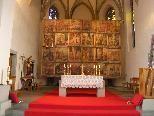 Bild: Das wahrscheinlich vom Feldkirch Barockmaler Clessin gemalte Fastentuch in der Pfarrkirche zu Bendern.