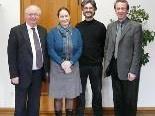 Bürgermeister Wolfgang Rümmele, AMS Leiterin Gaby Willy, Jugendkoordinator Elmar Luger, Gruppenleiter Roland Andergassen