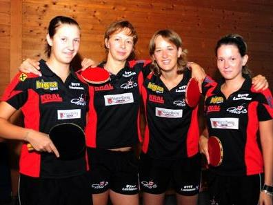 Daniela Strauss, Tatiana Bakaiova, Sarah Kainz und Melanie Luginger