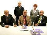 Der Vorstand der Rheticus-Gesellschaft: Herbert Wust, Walter Gollei, Obmann Prof. Dr. Elmar Schallert, Anette Bleyle, Geschäftsführer Univ.-Prof. Mag. Dr. Gerhard Wanner