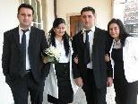 Hochzeit von Hasret und Ziya Herdem im Bild mit den Trauzeugen.
