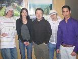 Junge SPÖ-Truppe: Daniel Moder, Nadja Unterkofler, Yilmaz Cinar, Christian Primigg und Seyit Cimen