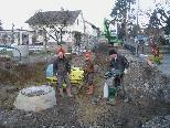 Kanalisationsarbeiten im Weiherweg.