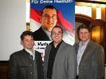 LAbg. Rudolf Jussel, Dr. Mathias Bitschnau und LAbg Daniel Allgäuer