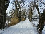 Verschneite Uferwege