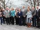 15 Bodensee-VHS in Bregenz; vorne LR Kaufmann, VHS-Direktor Türtscher und Vorsitzende Häfele