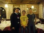 Arthur Tagwerker mit den neuen BLT Mitgliedern Adrian Moosmann und Sven Holzmann