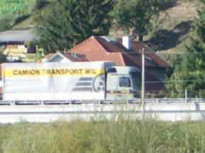 Autobahnabschnitt in Au - ohne Lärmschutz