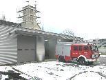 Bild: Der Bau des Gerätehauses der Ortsfeuerwehr Tosters ist weit fortgeschritten.