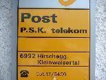 Das Postamt Hirschegg wird Ende des Jahres geschlossen.