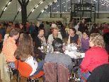 Das Sprachencafé im Kuppelsaal des Vorarlberger Wirtschaftsparks