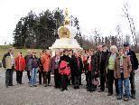 Das Stupa auf der Letze  wurde 1987 im Gedenken an Gesche Rabten Rinpotsche errichtet und ist eine symbolische Darstellung des Geistes eines Buddha