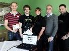 Das Team der neuen JVP Ortsgruppe Leiblachtal mit Marius Köb, Obmann Christian Loitz, Katrin Flatz, Marcel Nitz und Daniel Mauche, von links.