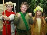 Der Bogenschütze, der Troll und die Feenkönigin stellten die Ordnung im Wald wieder her.