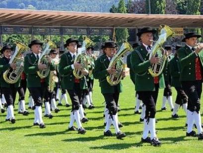 Der MV beim Marschmusikwettbewerb im Bodenseestadion