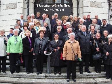 Der Seniorenclub Bludenz besuchte das Theater in St. Gallen.