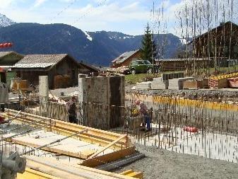 Die Bauarbeiten schreiten zügig voran