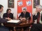 Die Bürgermeisterkandidaten Dietrich, Tinkhauser und Messner standen Rede und Antwort