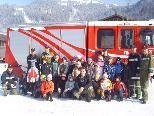 Die Volksschüler besuchten die Feuerwehr Schoppernau.