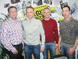 Dietmar Amann, Marc Brugger, Norbert Mathis und Clemens Drexel (v.l.) vom Sport-Projektteam.