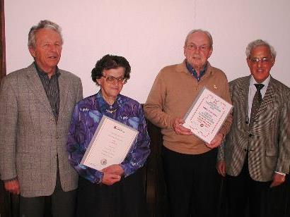 Erna Gund und Josef Schedler wurden geehrt.