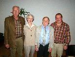 Führungsteam mit Obmann Kurt Almer, seinen Stellvertretern Josef Blaser und Helmut Fitz sowie der neuen Kassierin Ruth Brunzel.