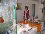 Helga Reisch präsentiert ihre Tiffany und Mosaikarbeiten