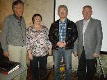 Hermann Nigg, Doris Huber, Manfred Schär mit dem nunmehrigen Altobmann Hubert Vith