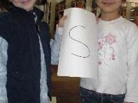 In Rekordzeit fanden die Kinder die Buchstaben.